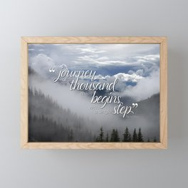 A journey of a thousand miles begins with a single step Framed Mini Art Print