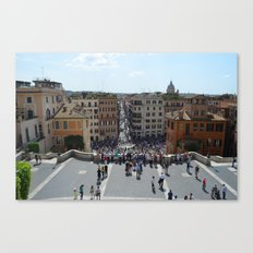 View from Spanish Steps, Rome, Italy Canvas Print