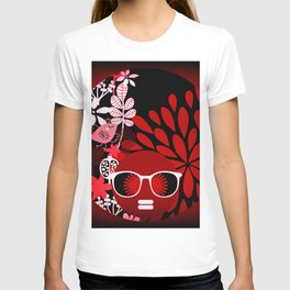 Afro Diva : Sophisticated Lady Red T-shirt