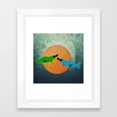 Platypus Love Framed Art Print