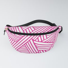 Abstract pink & white Lines and Triangles Pattern - Mix and Match with Simplicity of Life Fanny Pack
