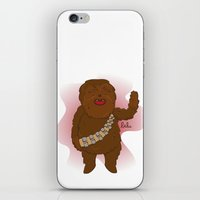 chewbacca iPhone & iPod Skins featuring chewbacca by Lalu - Laura Vargas