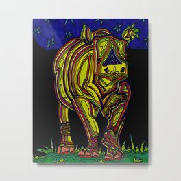 The lonely rhino Metal Print
