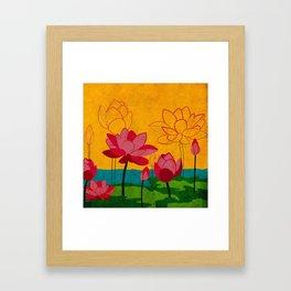 Flowers: lotus Framed Art Print