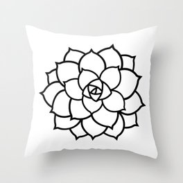 Simple Succulent Throw Pillow
