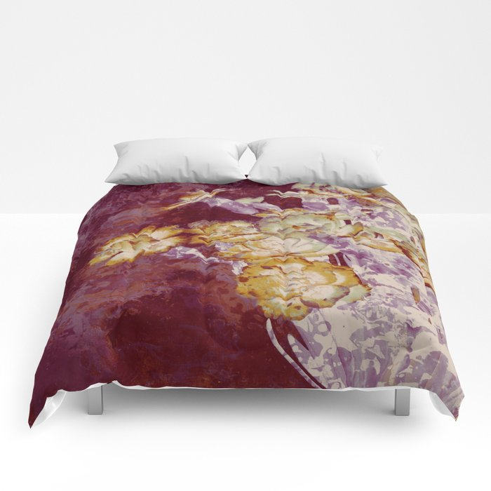 abstract bouquet and vase Comforters