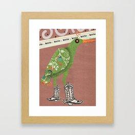Birds Wearing Clothes: Boots Framed Art Print