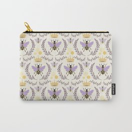 Queen Bee - Lavander Purple and Yellow Carry-All Pouch