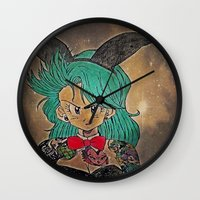 dragon ball Wall Clocks featuring First Lady Of Dragon Ball  by Artistic