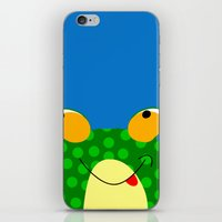 frog iPhone & iPod Skins featuring Frog by Jessica Slater Design & Illustration