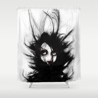wrestling Shower Curtains featuring Coiling and Wrestling. Dreaming of You by Rouble Rust