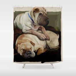 pups Shower Curtain