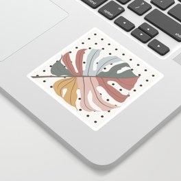 Colorful Monstera Leaf Sticker