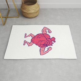 Healthy Heart Flexing Muscle Drawing Rug