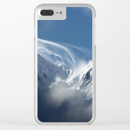 Blizzard in the High Mountains Clear iPhone Case