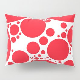 BUBBLE RED Pillow Sham