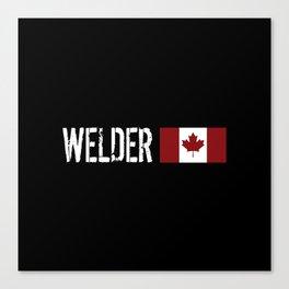 Welder: Canadian Flag Canvas Print