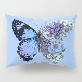 Blue Butterfly in Bloom Pillow Sham