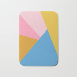 Cute Colorful Diagonal Color Blocking Bath Mat
