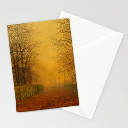 John Atkinson Grimshaw - Evening Glow - Victorian Retro Vintage Painting Stationery Cards