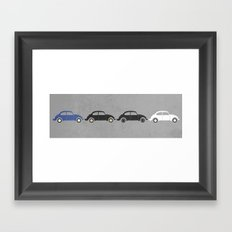 vw beetle abbey road  Framed Art Print