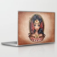 pinup Laptop & iPad Skins featuring Amazon Pinup by Tim Shumate