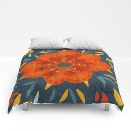 Decorative Whimsical Orange Flower Comforters