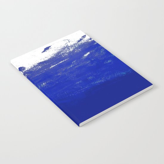 Water waves ocean sea bright blue modern painting minimal monochromatic urban dorm college art Notebook