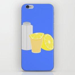 Salt, lemon and tequila iPhone Skin