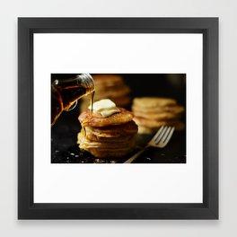 Warm syrup Framed Art Print