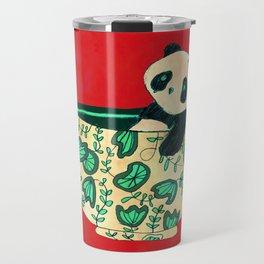 Dinnerware sets - panda in a bowl Travel Mug