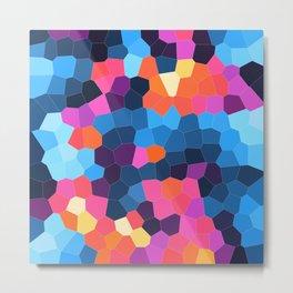 Geometric Brights Metal Print