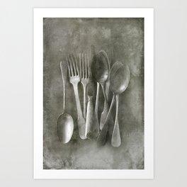 Flea market cutlery Art Print