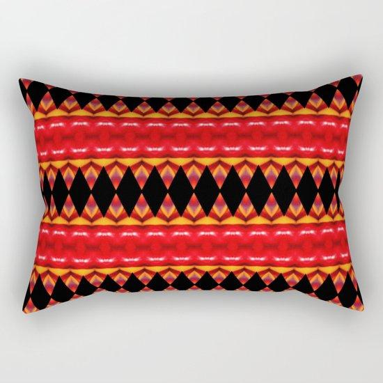 Black Diamonds on red Rectangular Pillow