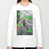 botanical Long Sleeve T-shirts featuring botanical  by Mike McDonnell