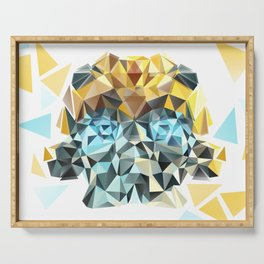 Bumblebee Low Poly Portrait Serving Tray