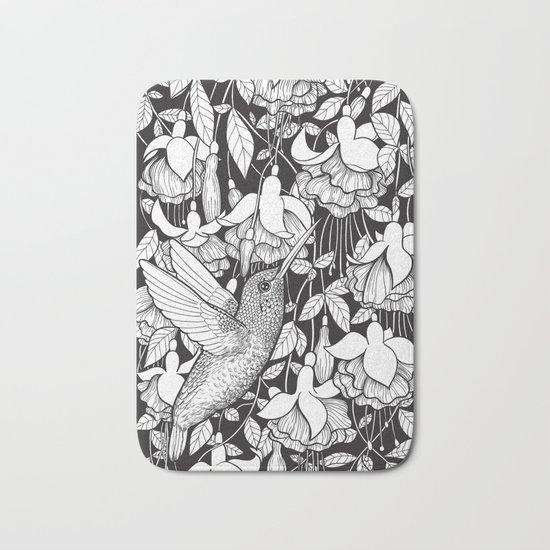 Hummingbird and fuchsia Bath Mat
