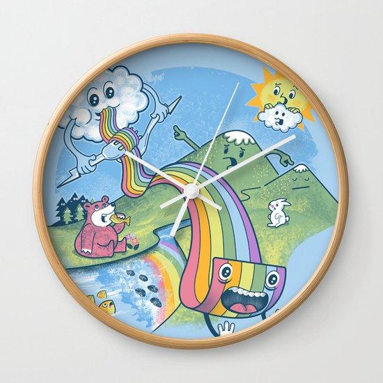 Rainbow Pasta Wall Clock