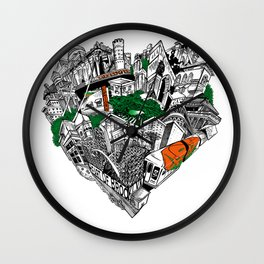 The Heart Of Brooklyn Wall Clock