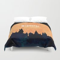 hogwarts Duvet Covers featuring Hogwarts by IA Apparel