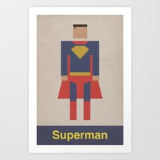 Man of Steel Retro Art Print
