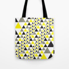 Black & Yellow equilateral triangles pattern Tote Bag