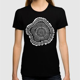 Growth Rings – 65 Years – Black T-shirt