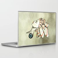 moth Laptop & iPad Skins featuring Moth 2 by Freeminds