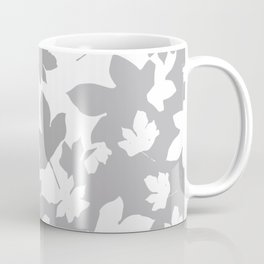 Envelope leaves decor. Grey.white. Coffee Mug