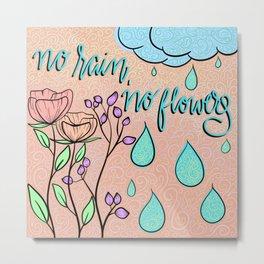 no rain Metal Print