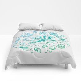 Geo-rex Vortex   Turquoise Ombré Comforters