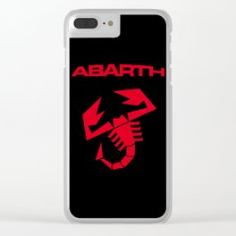 Abarth Scorpion red Clear iPhone Case