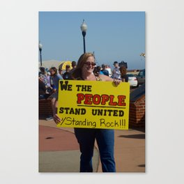 Standing Rock Protest Sign in Florida Canvas Print
