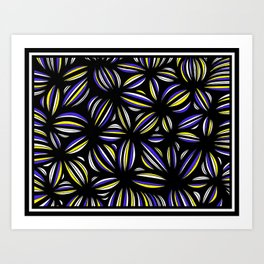Grosland Abstract Expression Yellow Blue Art Print